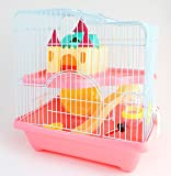 BPS® Jaula Hámster Chalé para Hámster con Escalera Túnel y Casa Especial Color se envia al azar 28 * 21 * 31 cm BPS-1340