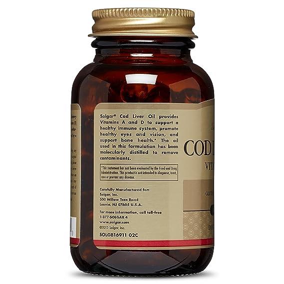 Solgar Hígado Bacalao - 100 Cápsulas: Amazon.es: Salud y cuidado personal