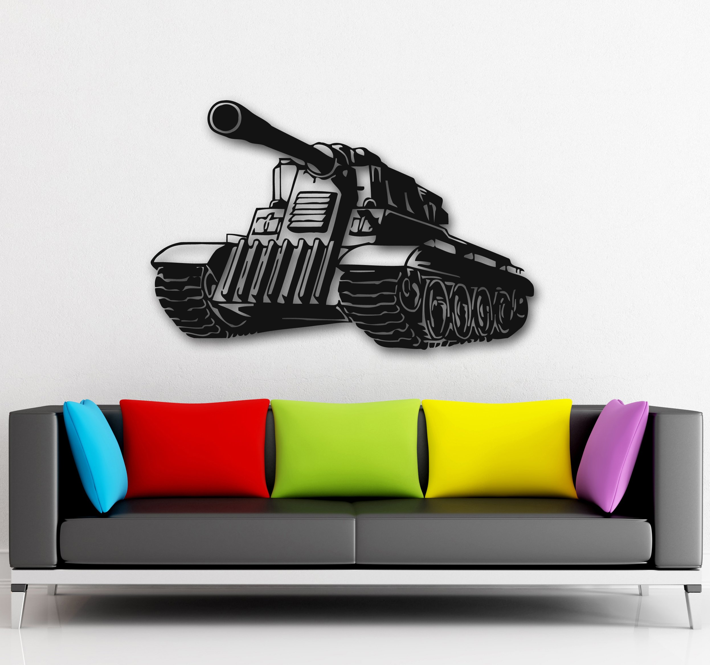 Wall Stickers Vinyl Decal Military Tank Army War Kids Nursery Decor (ig819)