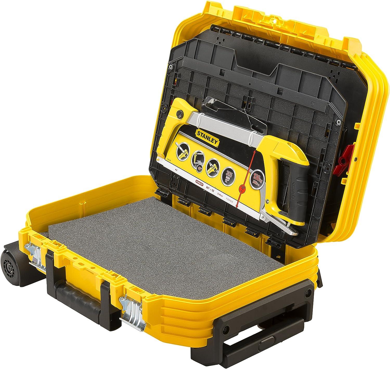 FMST1/75530 54x40.5x25.5/cm Durable Trolley with Telescopic Handle Tool Set Fiberglasverst/ärkt Accordion Structure Stanley FatMax Tool Box Tool Box with Tools