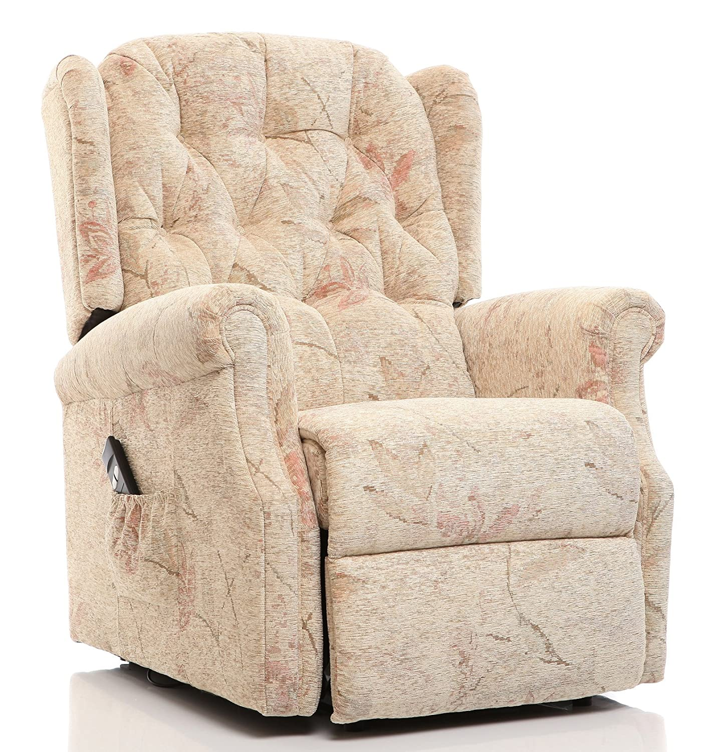 The Oldbury Riser Recliner Lift & Tilt Chair in Beige Fabric