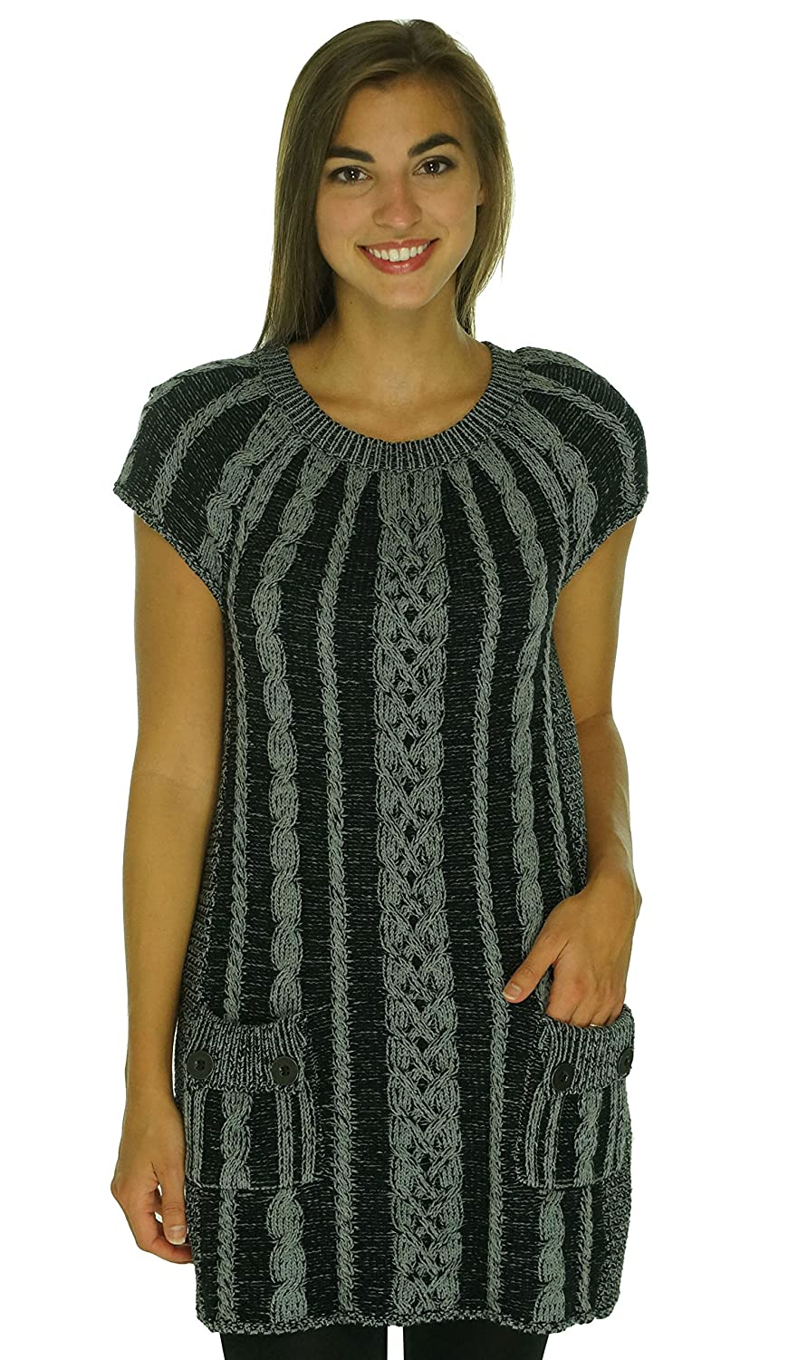 Style & Co Cap Sleeve Cable Knit Tunic Sweater