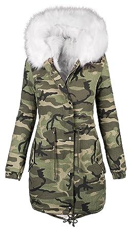 Veste hiver camouflage femme