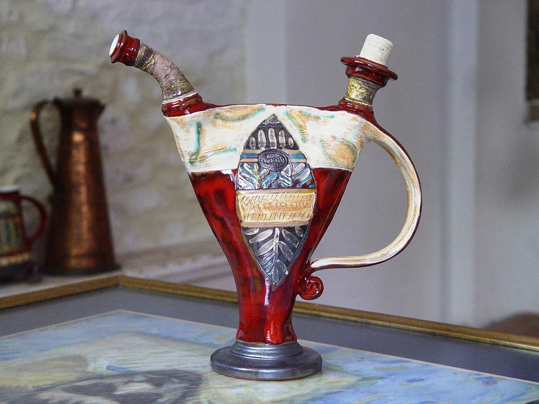 Ceramic art Home Decor Water pitcher Decorative Pottery Vessel Pottery bottle Danko Pottery Handmade Earthen Pitcher Ceramic Decanter