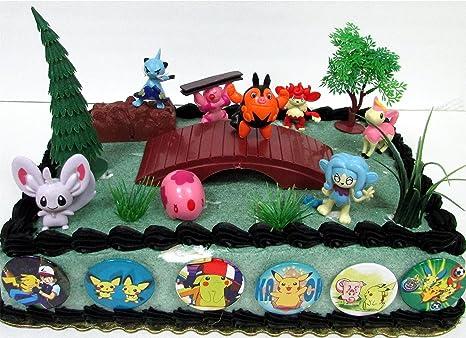 Amazon Pokemon 18 Piece Birthday Cake Topper Set Featuring 8
