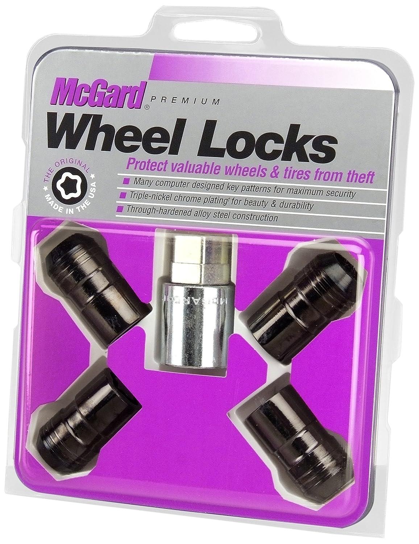 McGard 24216 Chrome//Black Cone Seat Wheel Lock Set