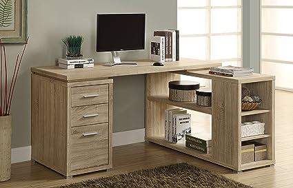 Sensational Monarch Specialties Hollow Core Left Or Right Facing Corner Desk Natural Download Free Architecture Designs Scobabritishbridgeorg