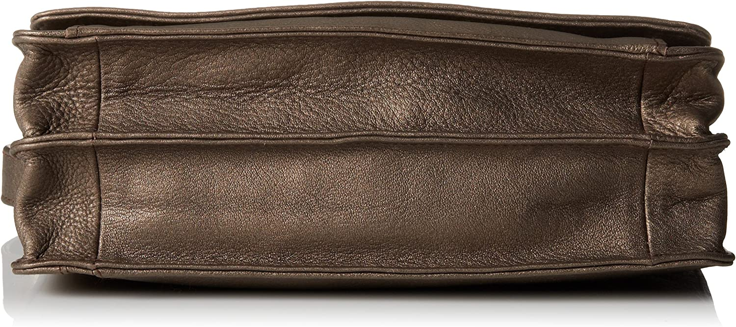 Derek Alexander Ew Three-Quarter Flap Organizer Bronze One Size