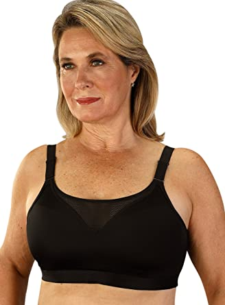 0fc528840f Classique Post Mastectomy Sports Bra with Moisture Resistant Fabric 34A  Black