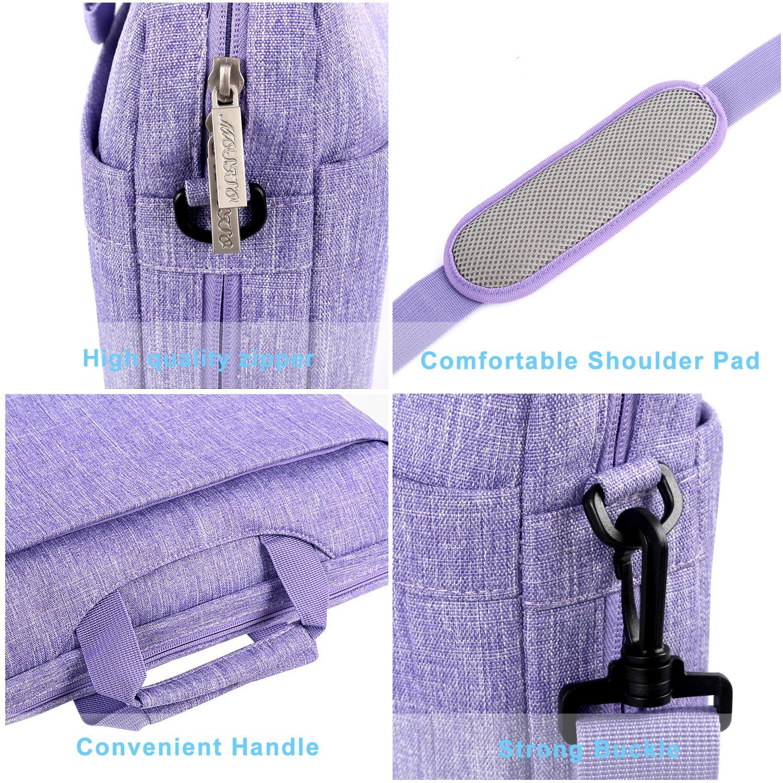 MOSISO Umh/ängetasche//Laptoptasche Kompatibel 17-17,3 Zoll MacBook//Notebook//Chromebook//Tablet Polyester Laptop Beweglicher Schulter Beutel mit Verstellbarer Tiefe an der Unterseite Lila