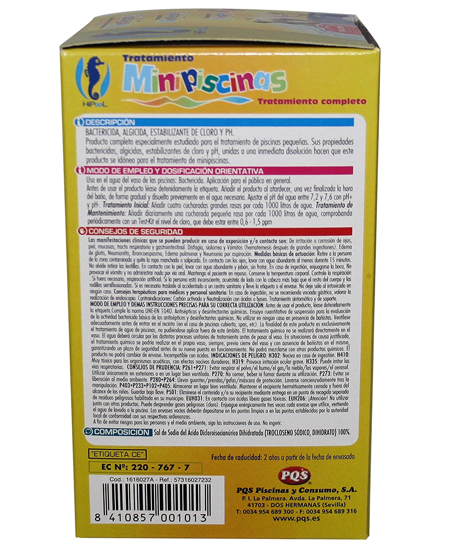PQS - 1616027 Kit mini piscina mantenimiento 500 gr: Amazon.es: Jardín