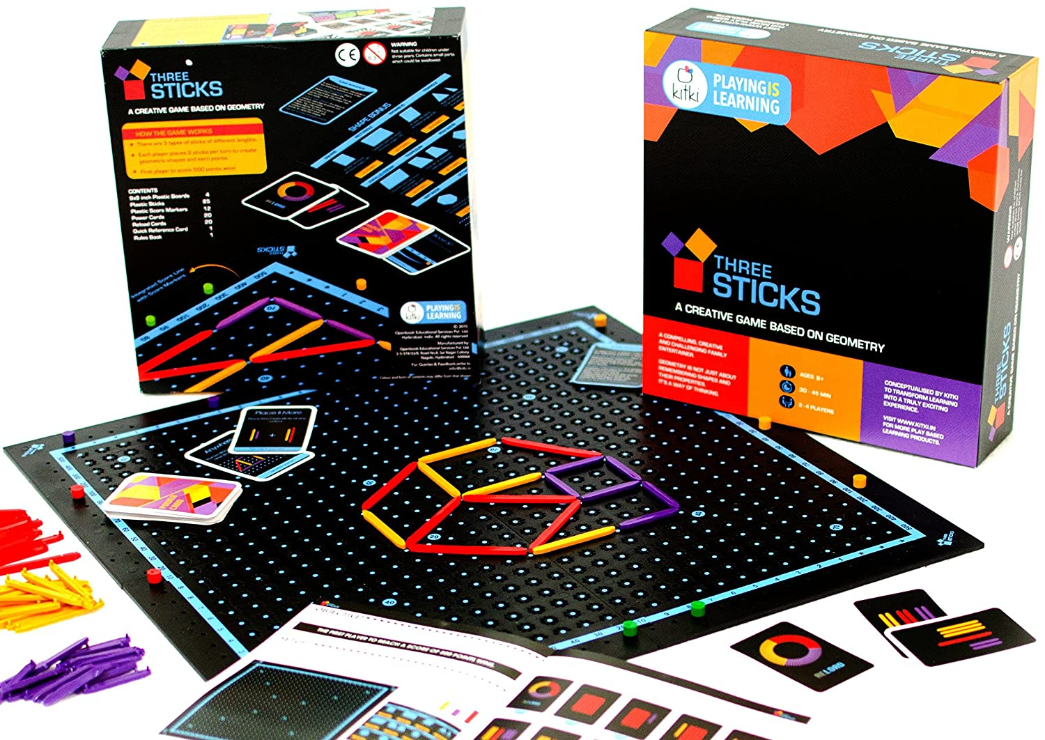 Creativity Toys For Boys : Three sticks math game educational games stem toys for