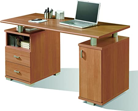 Abitti Mesa de Escritorio para despacho u Oficina en Color Cerezo ...