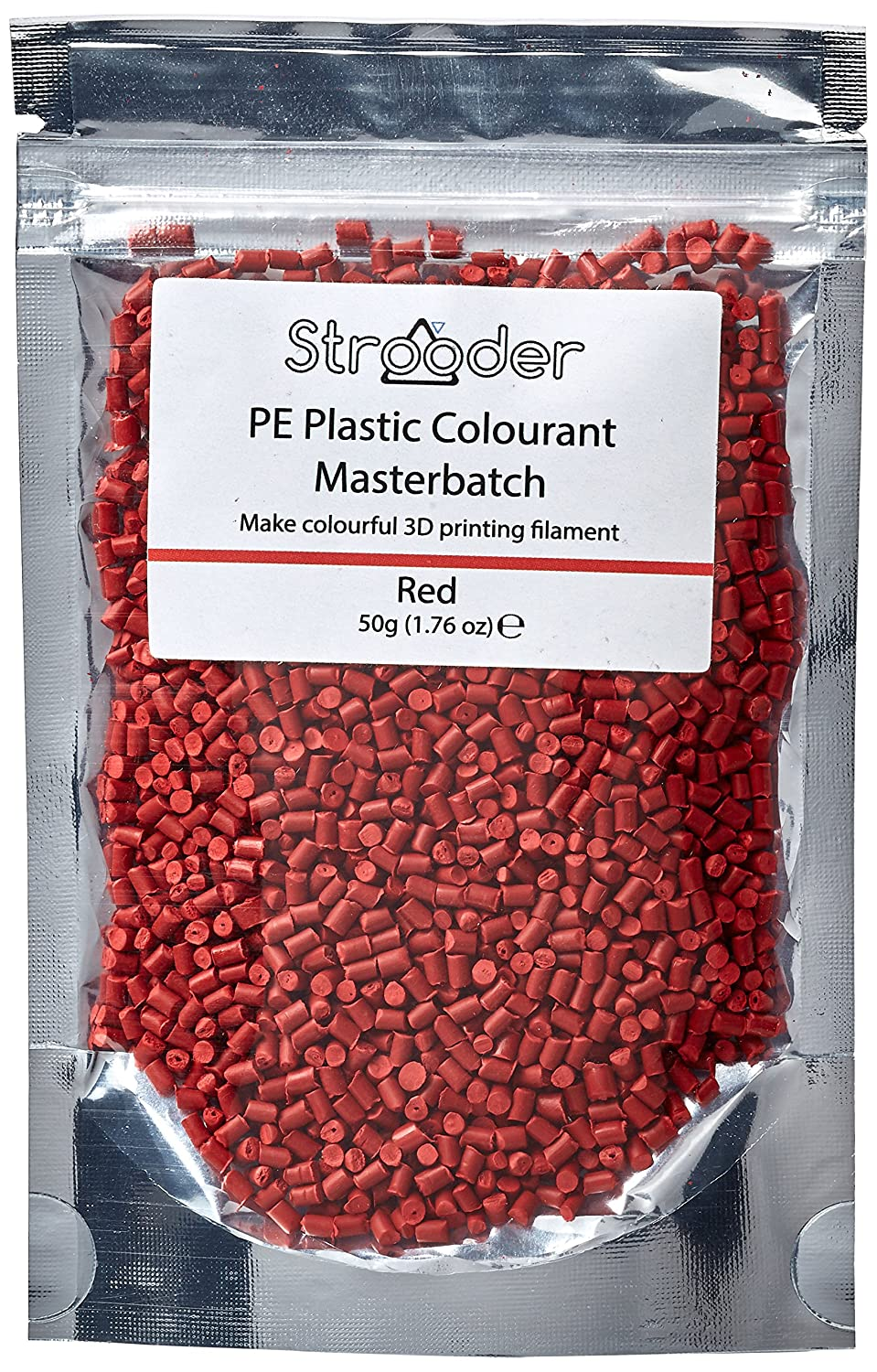 Strooder PE-MBR Master batch colorant for PE, 50 g, Red Omnidynamics