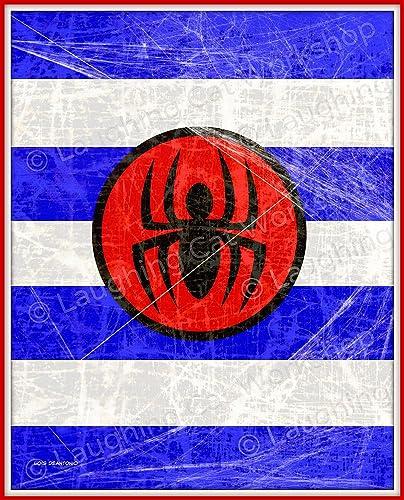 Superhero Art For Kids Boys Room Decor Spiderman Wall Comic Print