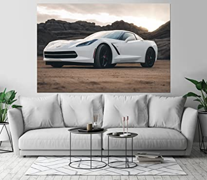 Amazon Com Corvette Stingray C7 Automobile Car Art Print Wall Decor