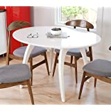 Hives and Honey 6006-006 Haven Home Beckett Glossy Round Table, White