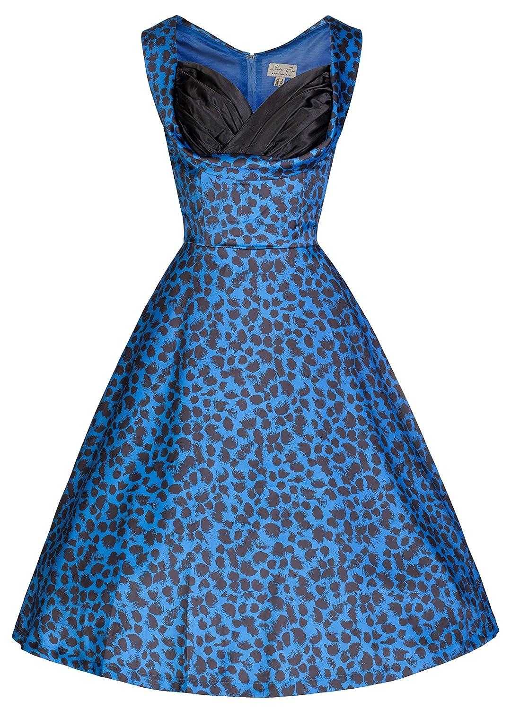 Amazon.com: Lindy Bop \'Ophelia\' Vintage 50\'s Electric Blue Print ...