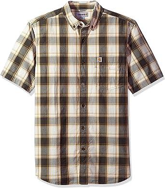Carhartt - Camisa de manga corta para hombre - Gris - Medium: Amazon.es: Ropa y accesorios