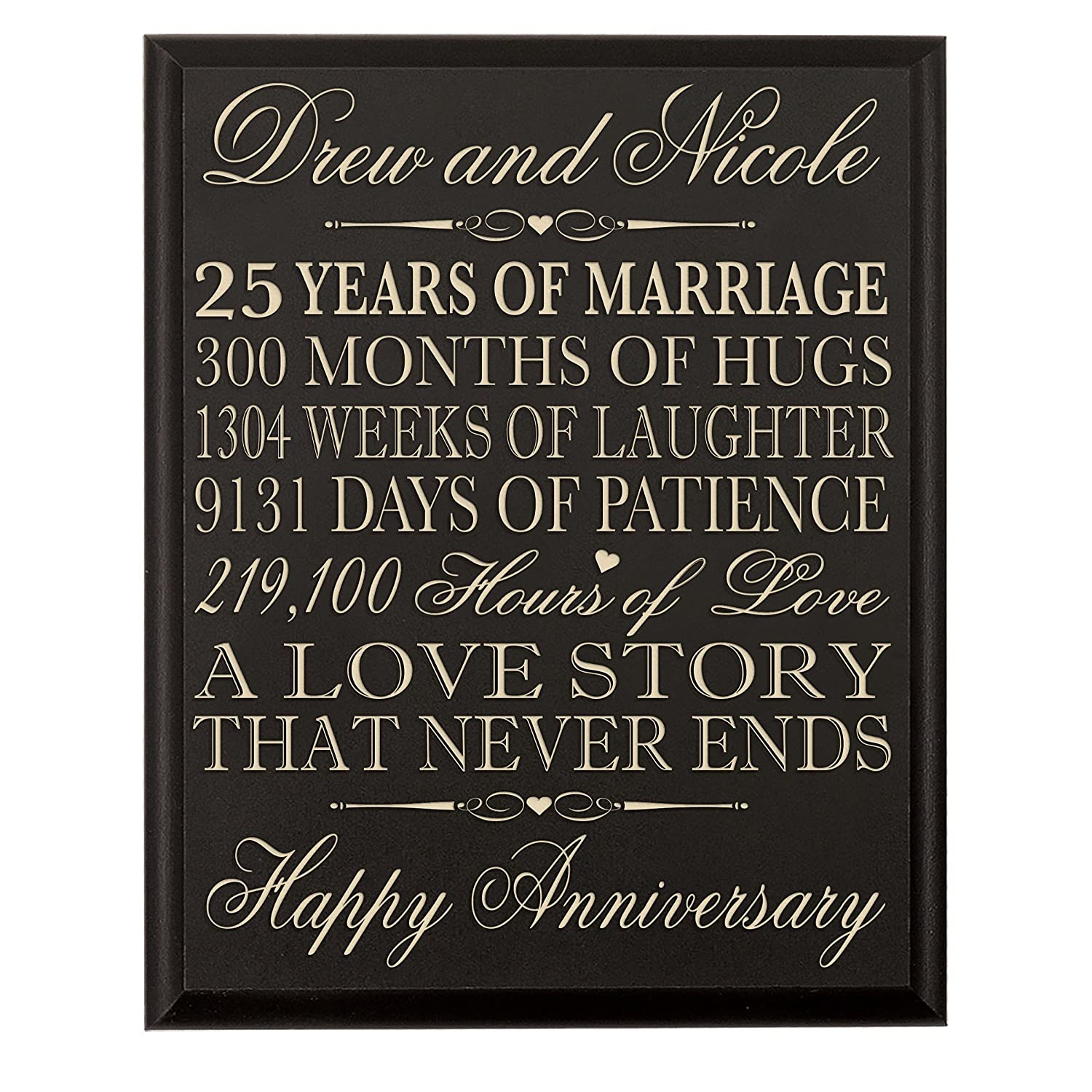 Custom Made 25th Anniversary Gifts for Her25th Wedding Anniversary Gifts for Him Wall Plaque By ...  sc 1 st  GENÇ ASKON & Custom Made 25th Anniversary Gifts for Her25th Wedding Anniversary ...