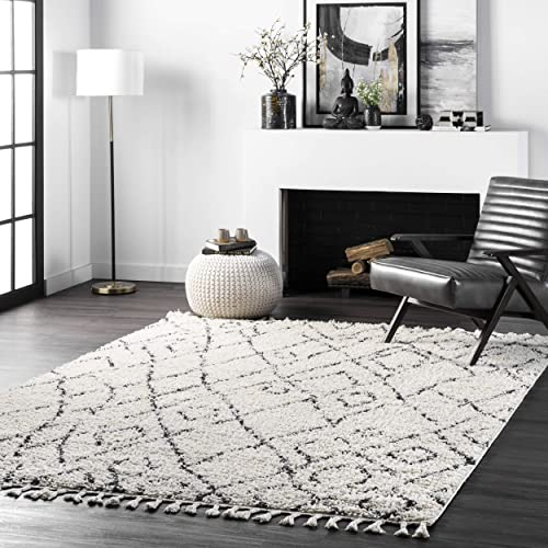 nuLOOM Nieves Moroccan Diamond Shag Area Rug