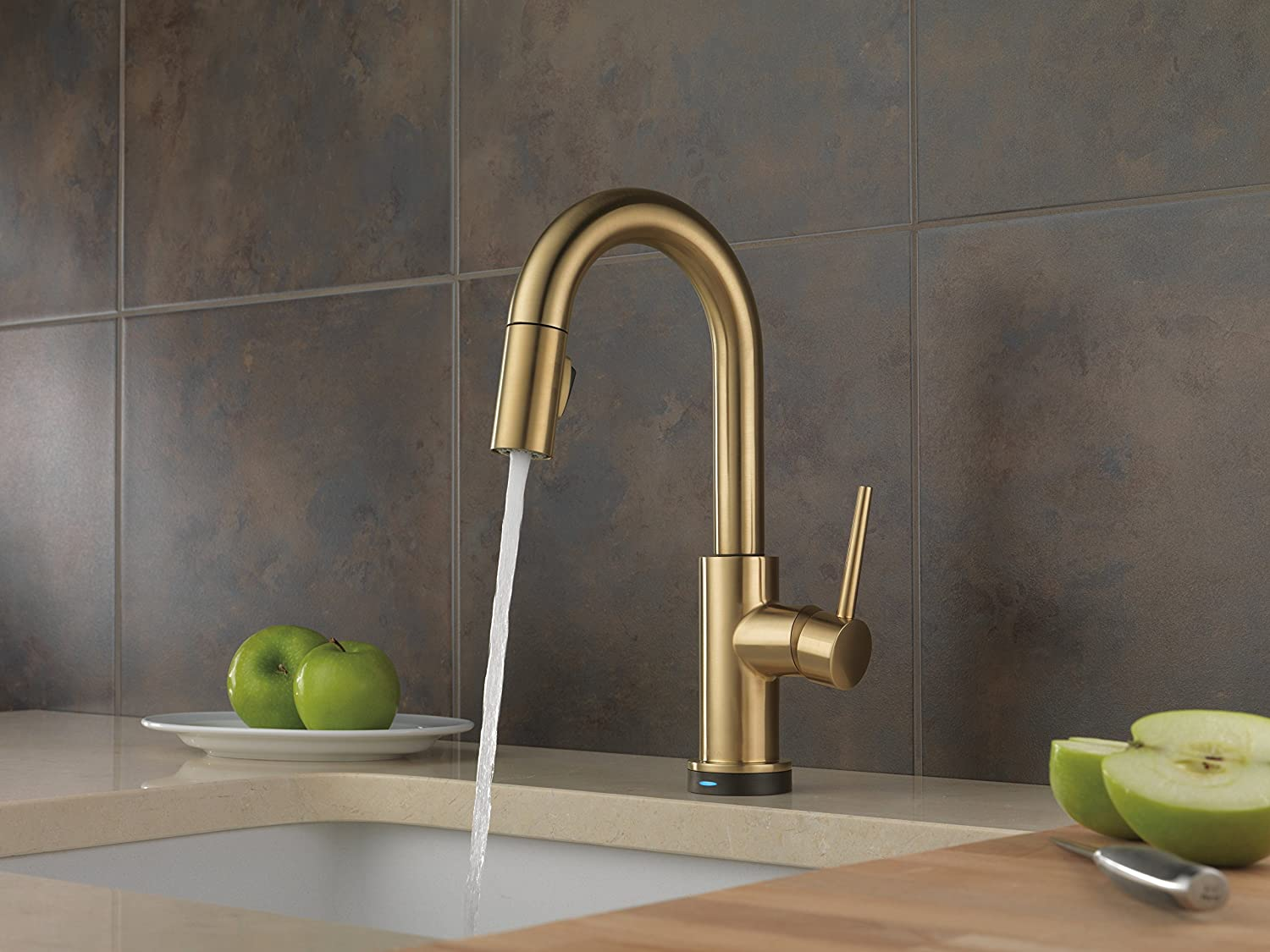 Delta Faucet 9959T-CZ-DST Trinsic Single Handle Pull-Down Bar/Prep ...