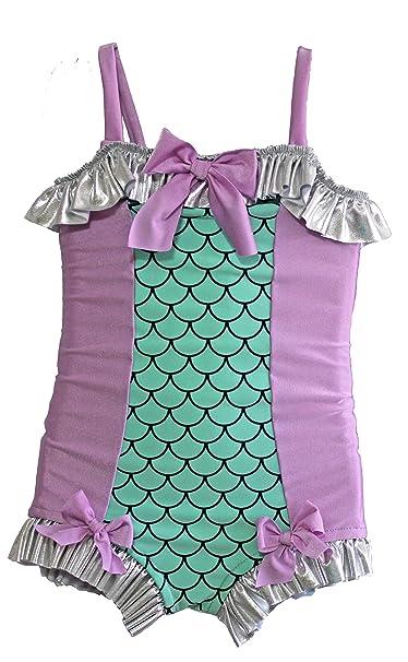 Amazon.com: Muddy pies 1pc sirena traje de baño: Clothing