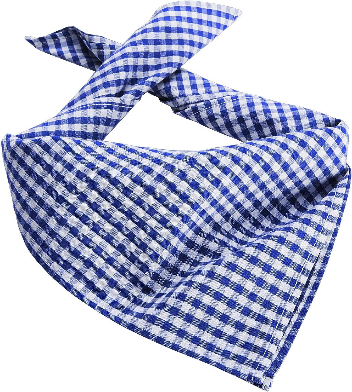 Tirolese Bandana dressforfun 900644 Unisex Accessorio Diversi Colori Fazzoletto da Collo a Quadretti Azzurro| Nr. 303243