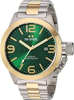 TW Steel Mens Quartz Gold and Stainless Steel Casual Watch, Color:Two Tone (