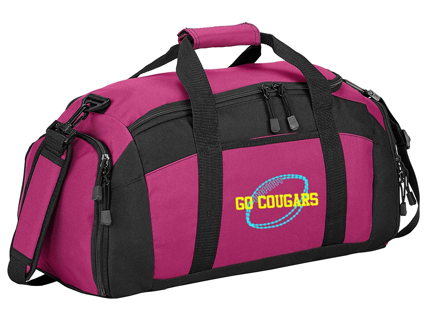 Gold all about me company Personalized Football Gym Sports Duffel Bag