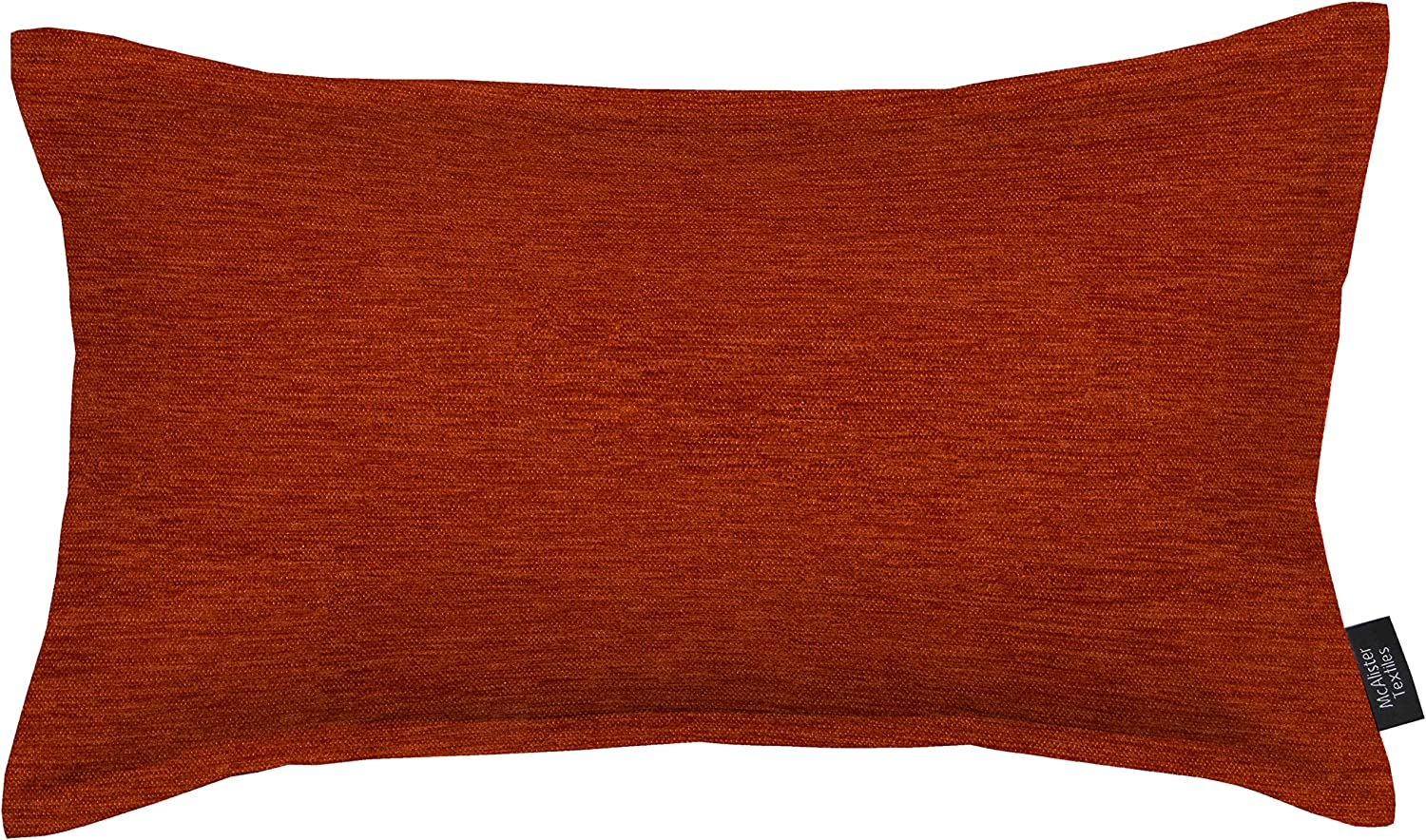 McAlister Textiles Solid Color Chenille Pillow Cover | Terracotta Orange Soft Woven Solid Color Color Holiday Decor Throw Lumbar Cushion | Size - 20 x 12 Inches