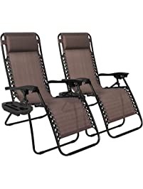 Best Choice Products 2 Pack Zero Gravity Chairs Lounge Patio Chairs Outdoor  Yard Beach