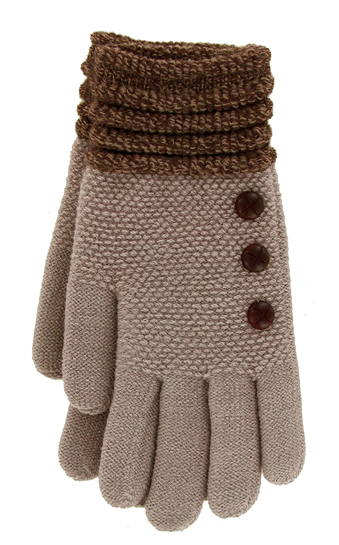 Britt's Knits Ultra-Soft Gloves, Gray, One Size DM Merchandising BKGLV-GRY