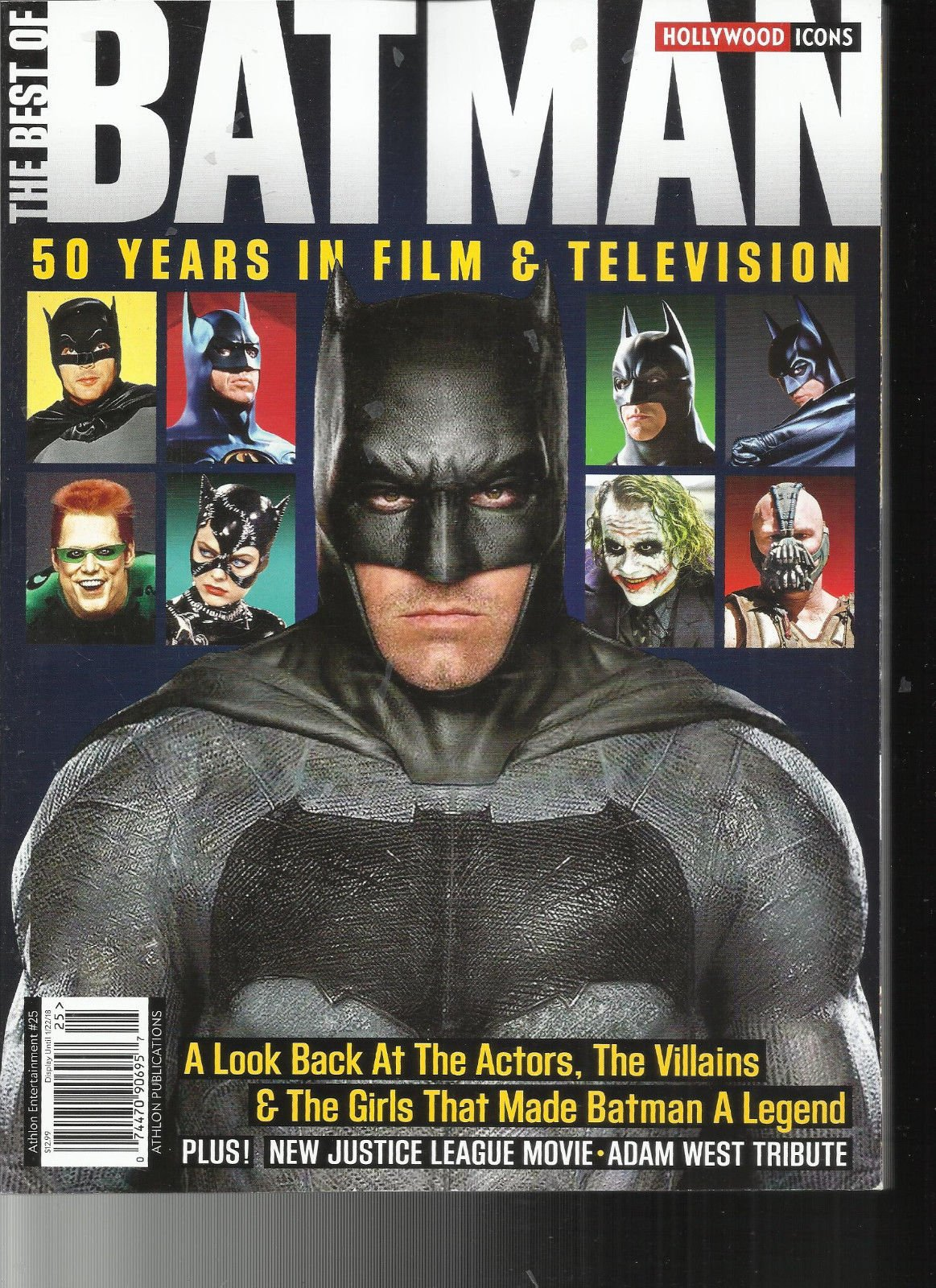 THE BEST BATMAN MAGAZINE, 50 YEARS IN FILM & TELEVISION HOLLY WOOD ICONS, 2017