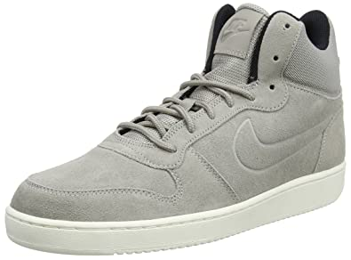 new arrivals b3ca4 48ecd Nike Court Borough Mid Premium, Baskets Hautes Homme, Gris  Cobblestone-sail-Black