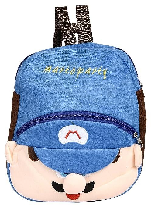 16bdc7cdce59 Multizone Mario School Bag Nursery Preschool Cartoon Bag Kids Toddler  Backpack 4 Liters (3 - 5 Years Age)  Amazon.in  Bags