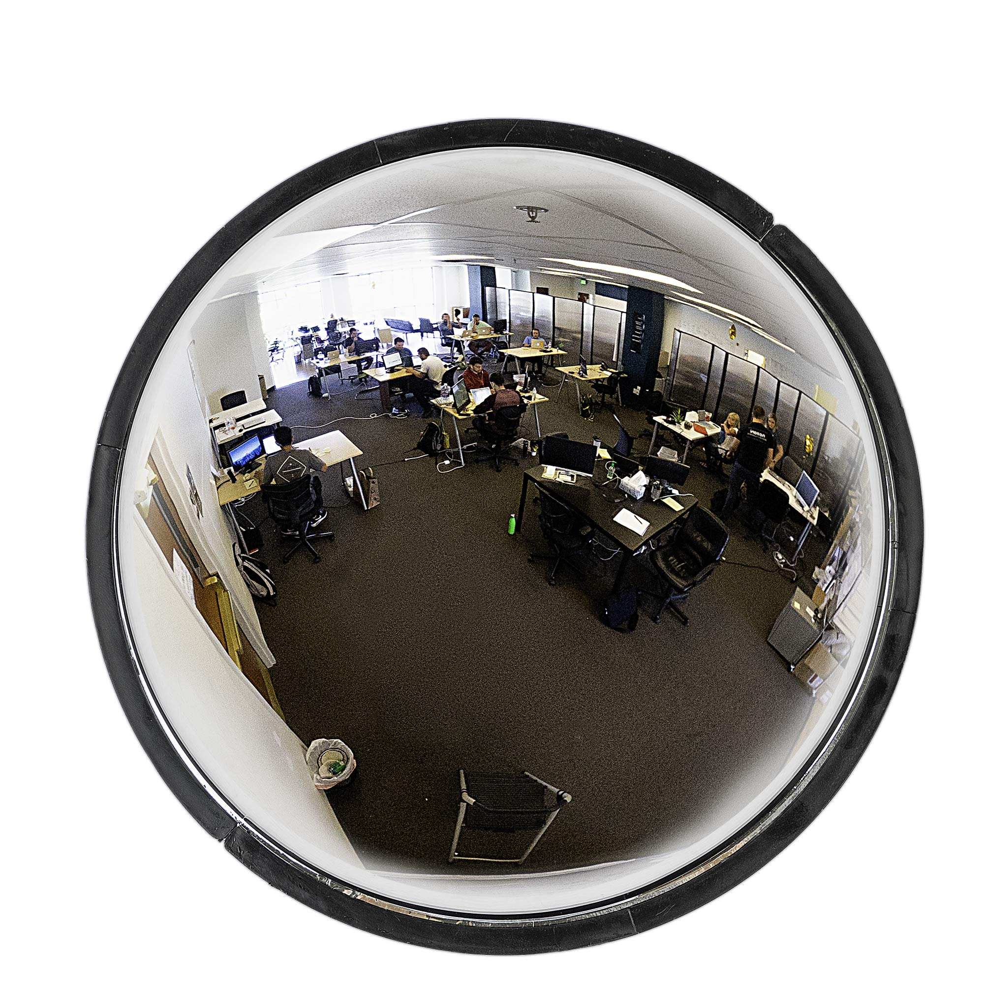 """18"""" Acrylic Bubble Dome Convex Mirror, Round Indoor Security Mirror for Driveway Safety Spots, Outdoor Warehouse Side View, Circular Wall Mirror for Office Use - Vision Metalizers by Vision Metalizers (Image #1)"""