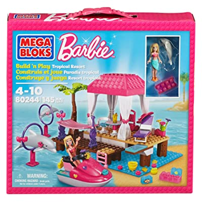 Mega Bloks Barbie Tropical Resort: Toys & Games