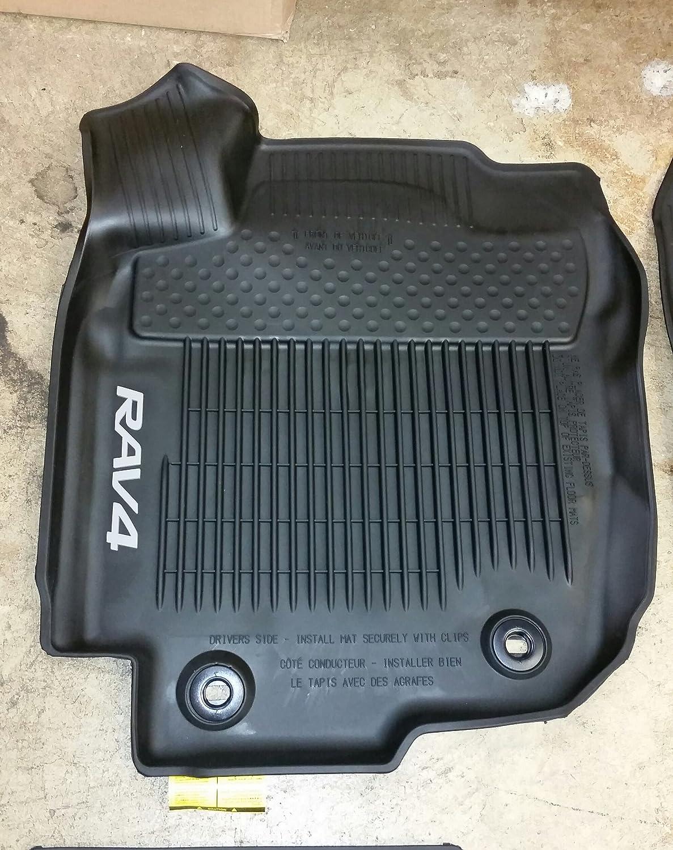 Amazon.com: Toyota Rav4 Black All Weather Floor Liners PT908-42165-20 Non-Hybrid: Automotive
