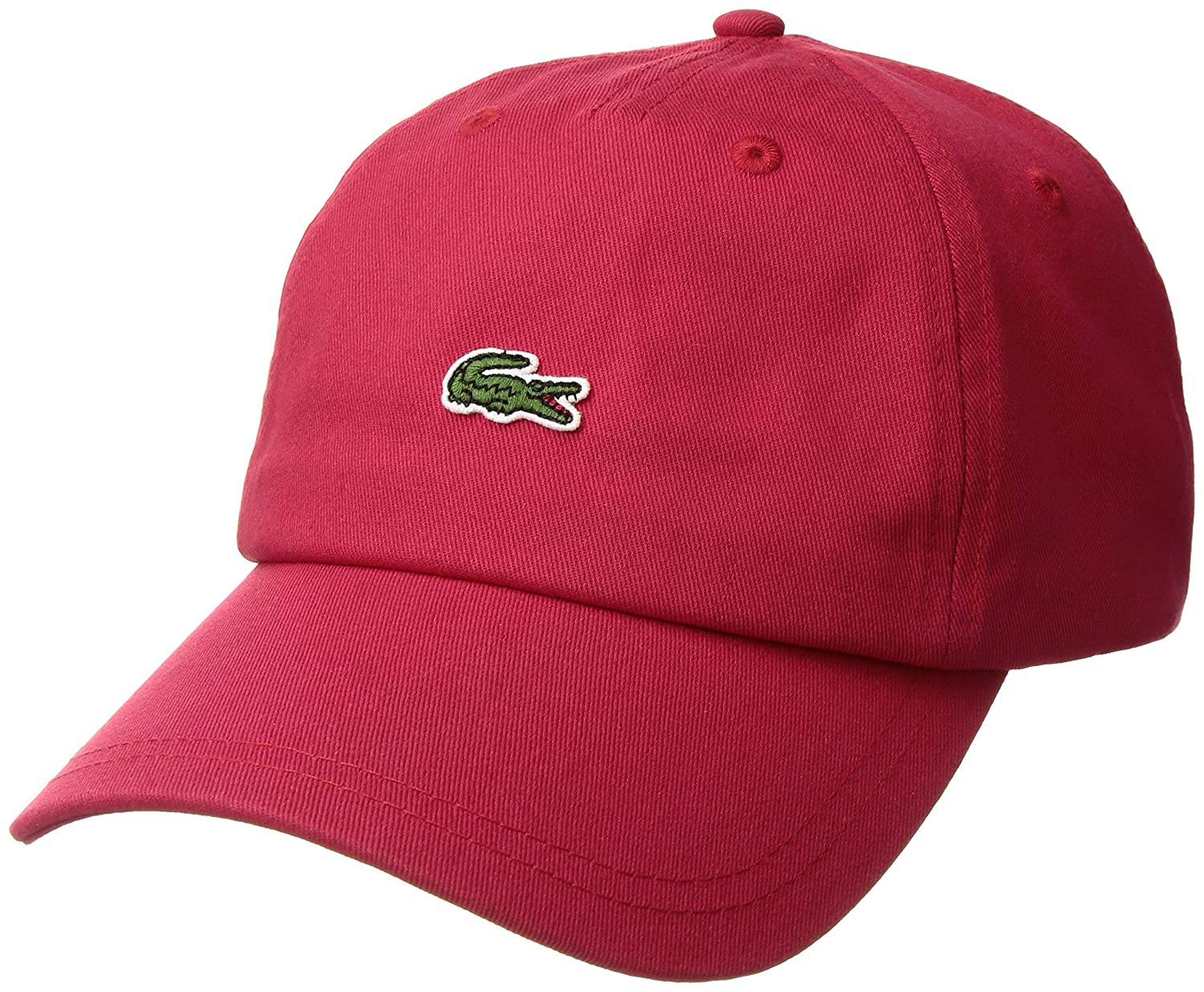 8735f886c Lacoste Men's Embroidered Crocodile Cotton Cap