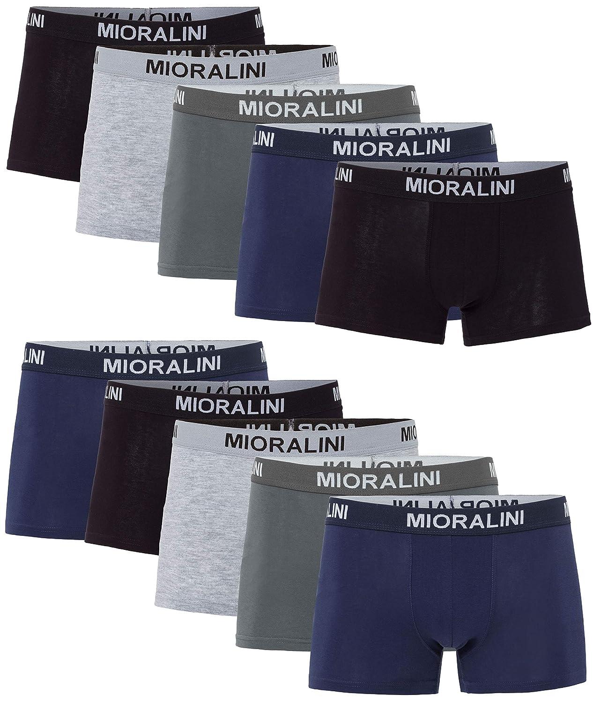 MioRalini 10 o 5 Boxer da Uomo Elasticizzati in Molti Colori e Taglie Boxer Aderenti