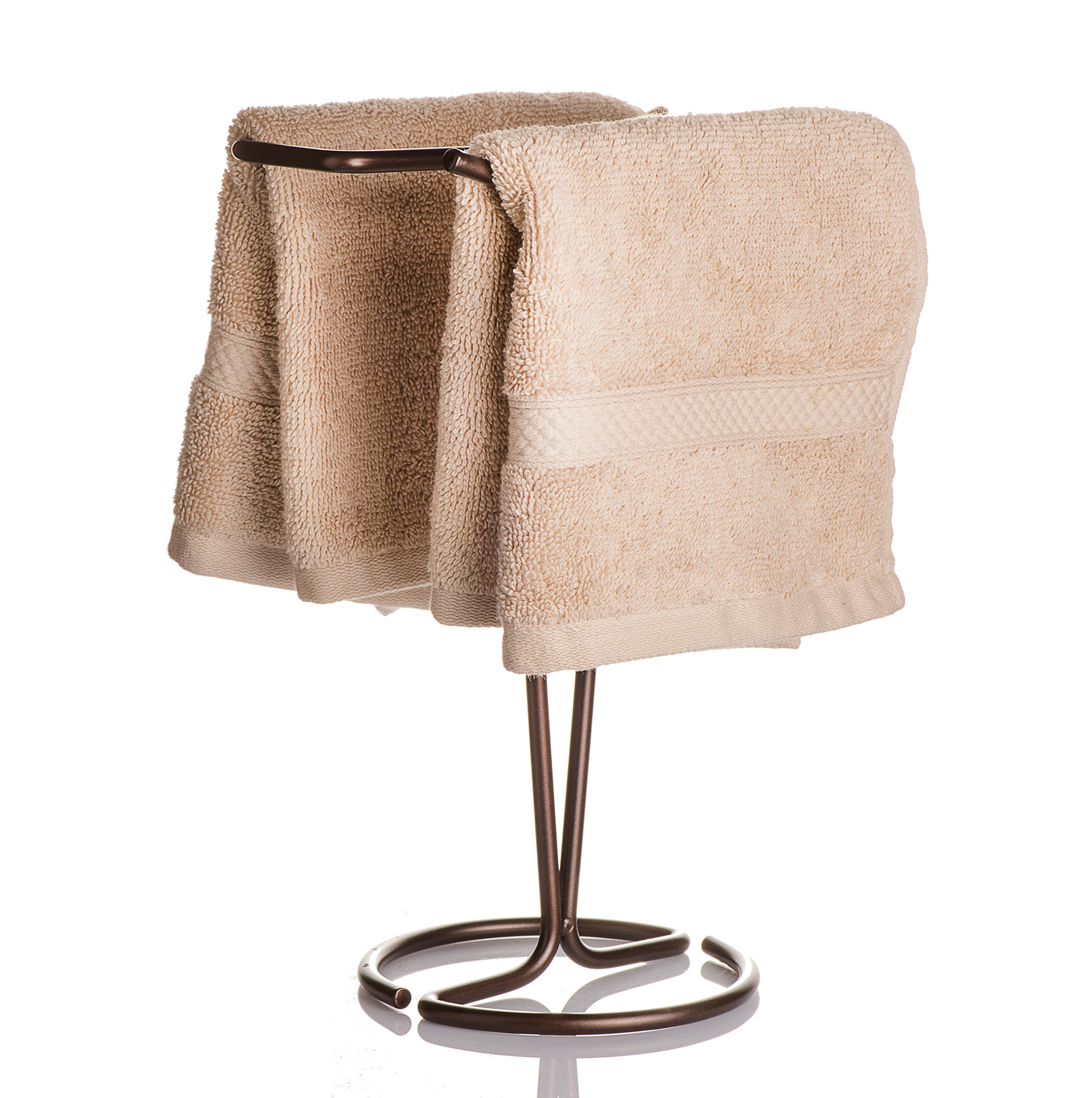 AMG and Enchante Accessories, Free Standing Fingertip Hand Towel Bar Holder Tree Rack, TT100003 ORB, Oil Rubbed Bronze