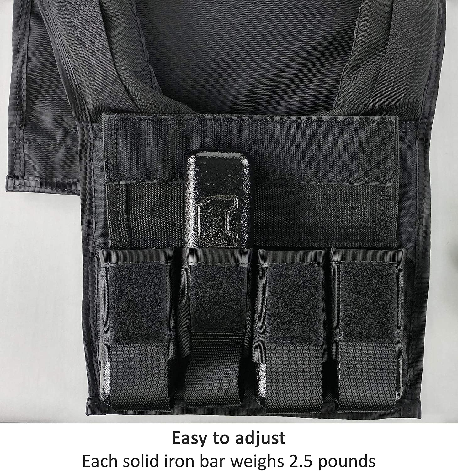Box 20 Lb Super Short Weight Vest Made in USA Built for Gym Weight Loss Training