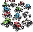 Pack of 24 Monster Pullback Trucks Stocking Stuffers Party Favors