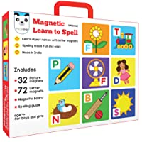 Play Panda Learn to Spell : Objects with 32 Picture and 72 Letter Magnets, Magnetic Board and Spelling Guide