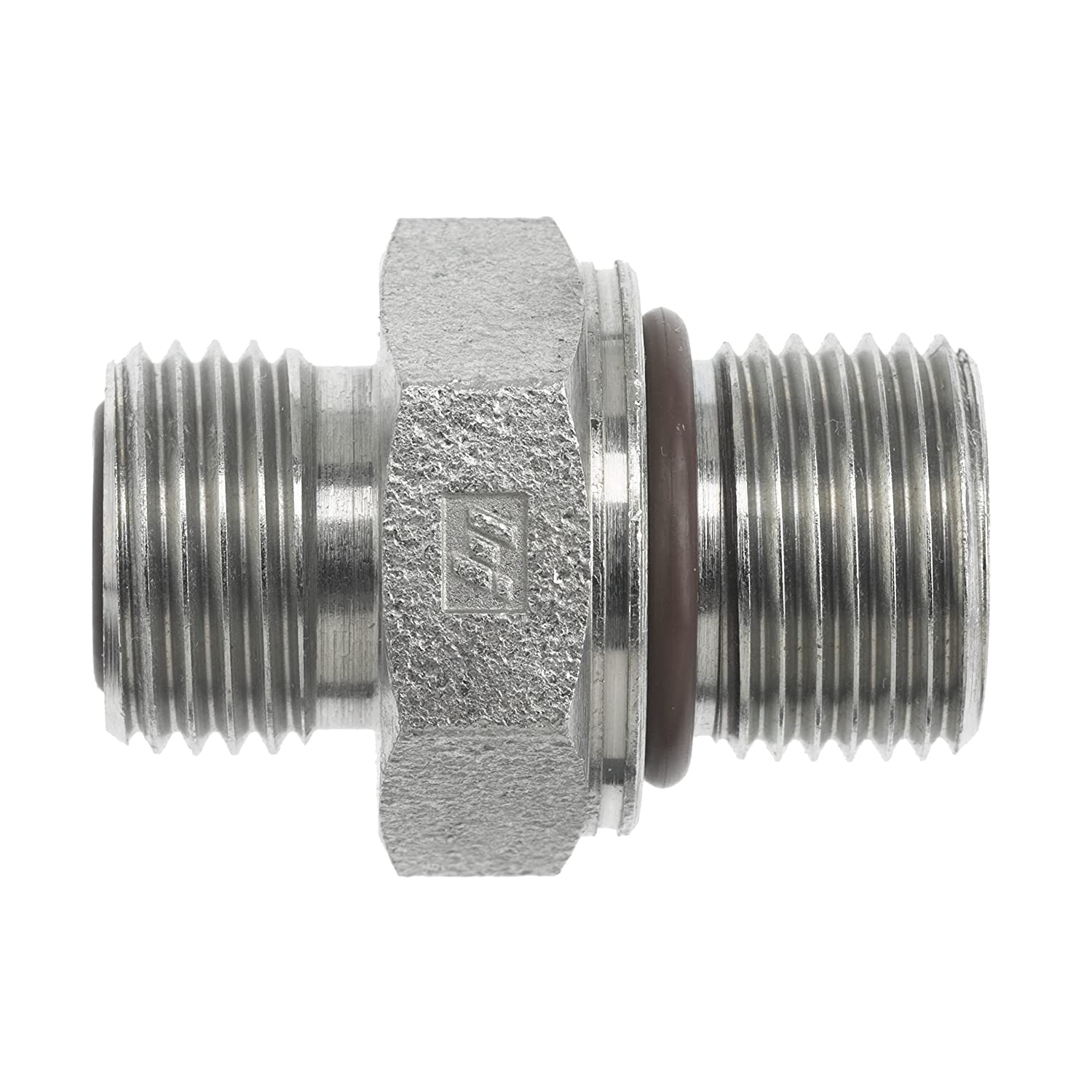 1-14 NPT Thread Brennan Industries FS7640-10-22-O Steel ISO6149-2 Straight O-Ring Face Seal Fitting 5//8 Male Face Seal x 5//8 Male Metric O-Ring Boss 1-14 NPT Thread 5//8 Male Face Seal x 5//8 Male Metric O-Ring Boss Inc.