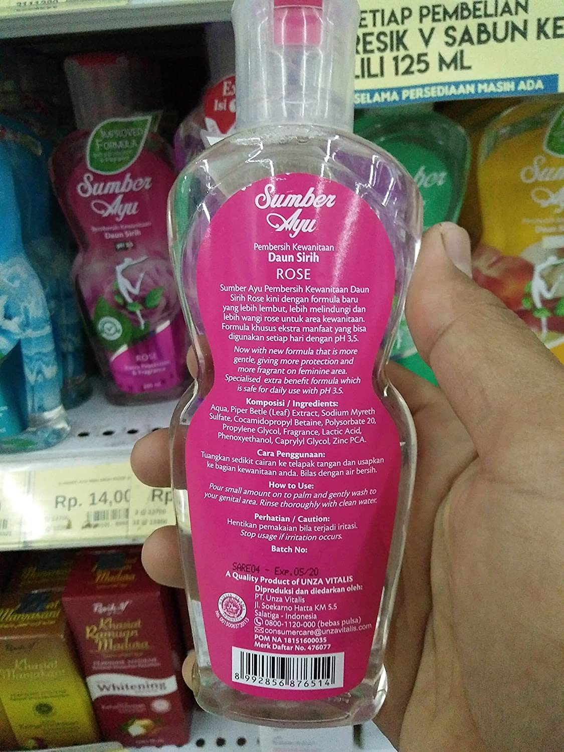 Sumber Ayu Sabun Daun Sirih 200 Ml Rose Health Red Personal Care