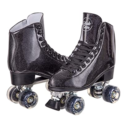 C SEVEN Skate Gear Sparkly Retro Quad Roller Skates : Sports & Outdoors