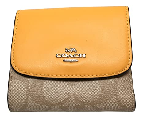 the latest 0b978 67b99 Coach Signature PVC Small Wallet Light Khaki Canary F87589 ...