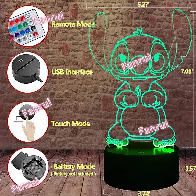 shiyueNB Stitch Cartoon Enfants R/éveil Num/érique R/éveil Jouet LED Horloge D/ésesp/ér/ée R/éveil Lumi/ère R/éveil